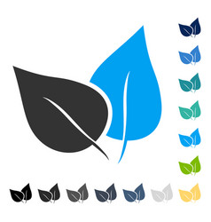 Flora plant icon vector