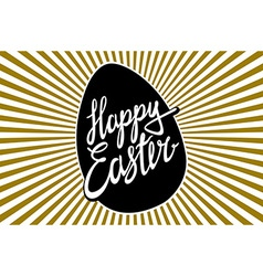 Happy easter of holiday religious easter lettering vector