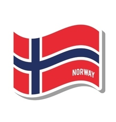 Norway patriotic flag isolated icon vector