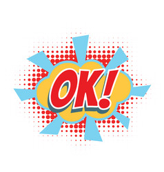 Ok comic word vector