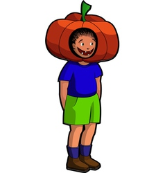 pumpkin boy vector image