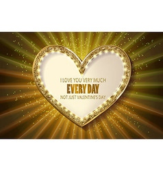 Retro light bannervalentine s card vector