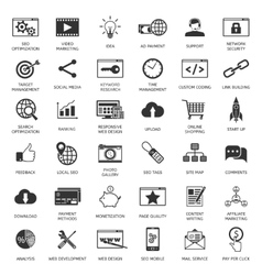 Seo optimization icons vector