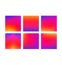 Set of colorful smooth gradient color vector