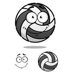 Smiling cartoon volleyball ball vector image vector image