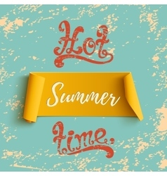 Summer banner on blue grunge background vector