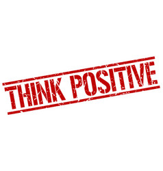think positive stamp vector image vector image