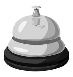 Reception bell icon gray monochrome style vector