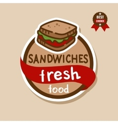 sandwiches label 2 vector image