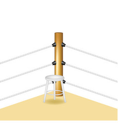 boxing corner with white wooden stool vector image