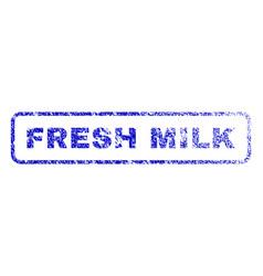 Fresh milk rubber stamp vector