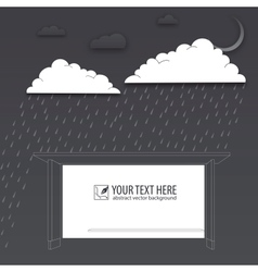 Protection of trouble rainy day background vector