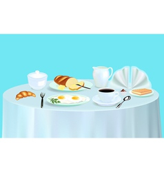 Breakfast with scrambled eggs vector image