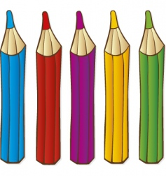 Pencils crayons vector