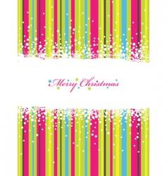 Christmas stripes vector image