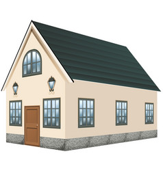 3d design for house with gray roof vector