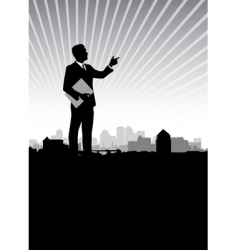 Businessman cityscape vector