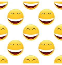 Laughing emoticon pattern vector