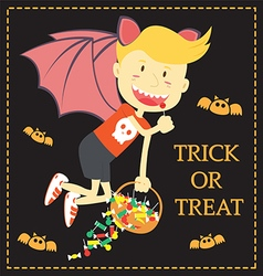 Trick or treat cartoon of halloween vector