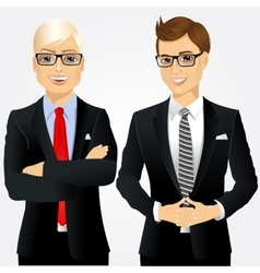 Two young businessmen vector
