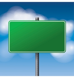 Green Blank Road Sign vector image