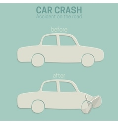 Car crash accident vector image