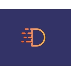 Abstract letter d logo design template dynamic vector