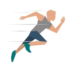 Person running icon design vector