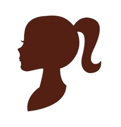 Woman head silhouette icon vector