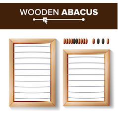 Abacus blank template of vector