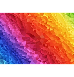 Abstract Rainbow Triangular Background vector image