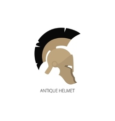 Antiques roman helmet isolated on white vector