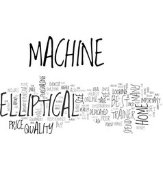 best home elliptical machine simple steps before vector image