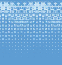 Blue abstract halftone background with square vector