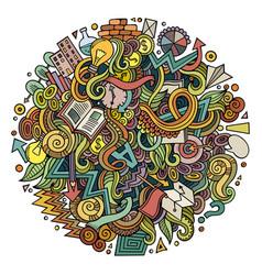 cartoon cute doodles hand drawn idea vector image vector image