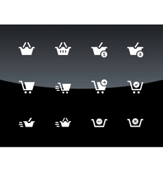 Checkout icons on black background vector