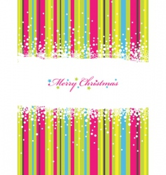 Christmas stripes vector image vector image