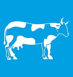 cow icon white vector image