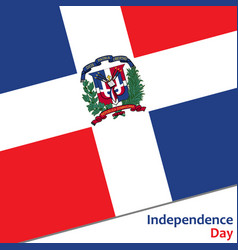 Dominican republic independence day vector
