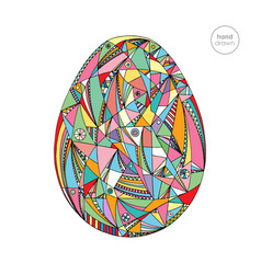 easter egg hand drawn vector image vector image