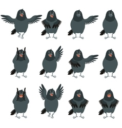 Flat icons of Ravens set vector image vector image