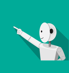 Humanoid robot pointing to something vector