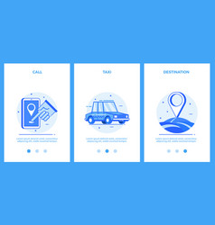 icons of taxi service - call taxi destination vector image