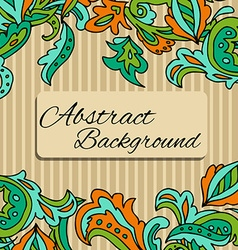 Lace background with a place for text Black and vector image vector image