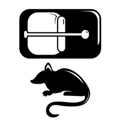 mousetrap icon simple black style vector image