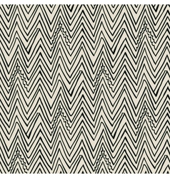 Pattern with zigzag black lines vector
