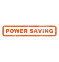 Power Saving Rubber Stamp vector image