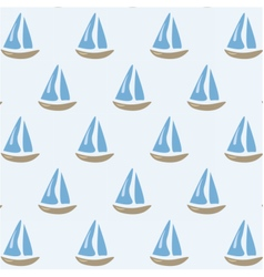 Sailing ships pattern vector
