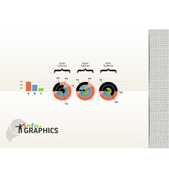 Set of infographic elements visual statistic vector