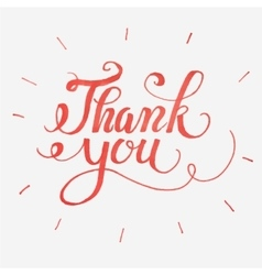 Thank you card hand drawn lettering vector